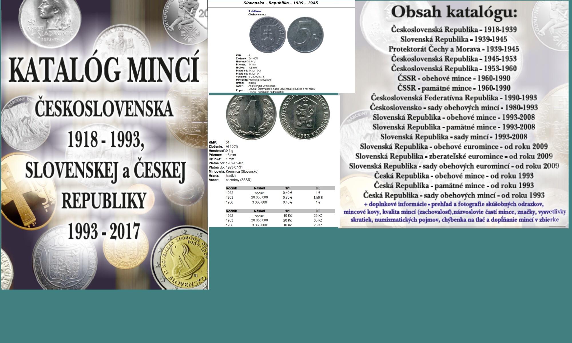 Numismatika ceník mincí